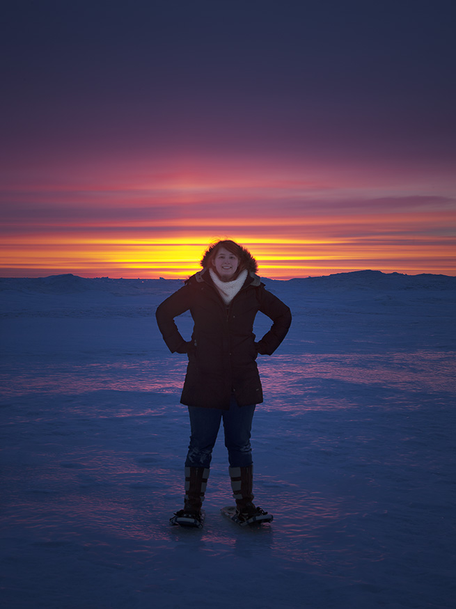 The sunrise at the light house was spectacular. I felt like I was in the arctic.