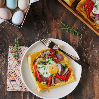 egg and veggie gallette