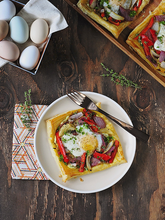 egg and veggie gallette