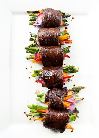 balsamic steak roll ups