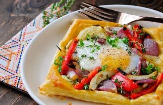 veggie egg galette